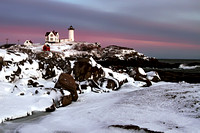 Winter Sunset at Cape Neddick