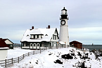 Portland Head Lighthouse in Snow
