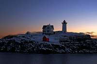 Nubble Light, Winter sunrise