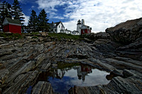 Pemaquid Lightouse Blue Sky Reflection